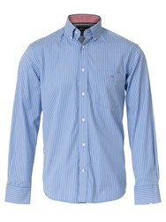 Eden Park Striped Shirt Light Blue