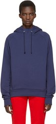 Martine Rose Navy Embroidered Hoodie