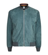 Paul Smith Suede Bomber Jacket Green