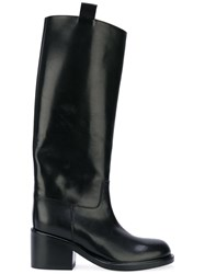A.F.Vandevorst Mid Heel Boots Women Calf Leather Leather 38 Black