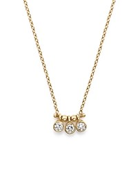 Zoe Chicco 14K Yellow Gold And Diamond Bezel Set 3 Necklace 16 White Gold