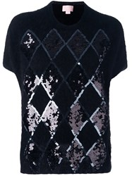Giamba Sequin Embellished Sweater Black