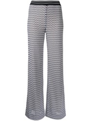 Missoni Zig Zag Flared Trousers White