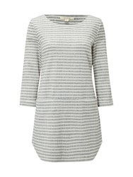 White Stuff Shashiko Stripe Jersey Tunic Grey
