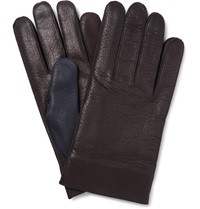 Maison Martin Margiela Two Tone Leather Gloves Brown