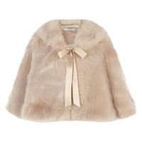 Coast Carrie Faux Fur Tie Cape Blush