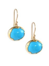 Annette Ferdinandsen 18K Gold And Turquoise Drop Earrings Yellow Gold