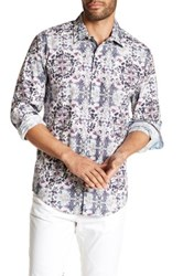 1 Like No Other Printed Long Sleeve Woven Classic Fit Shirt Purple