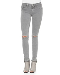 J Brand Jeans Mid Rise Skinny Jeans Silver Fox