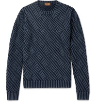 Tod's Textured Erino Wool Sweater Blue