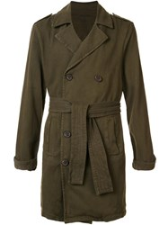 Osklen Soft Twill Trenchcoat Green