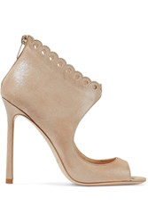 Jimmy Choo Blythe Scalloped Suede Sandals It35