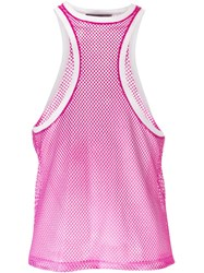 Dsquared2 Racerback Style Front Top Pink And Purple