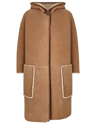 Mih Jeans Toffee Shearling Sheepskin Bay Cape Brown