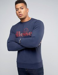 Ellesse Sweatshirt With Large Logo Navy