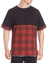 Les Benjamins Plaid Short Sleeve Tee Black