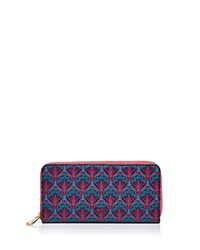 Liberty London Liberty Of London Large Zip Around Wallet Navy