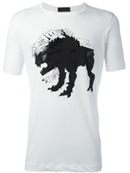 Diesel Black Gold Monster Print T Shirt White