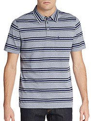 Original Penguin Classic Fit Striped Polo Shirt Flintstone