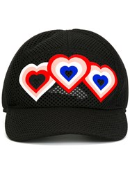 Fendi Heart Patch Cap Black