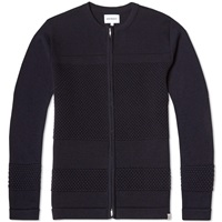 Norse Projects Bubble Zip Crew Knit Dark Navy