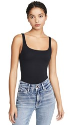 Good American Modern Tank Bodysuit Black