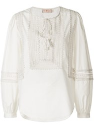 Tory Burch Marissa Top Cotton White