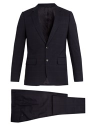 Paul Smith Windowpane Checked Wool Suit Navy Multi