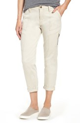 Jag Jeans Women's Gable Stretch Twill Utility Pants Stone