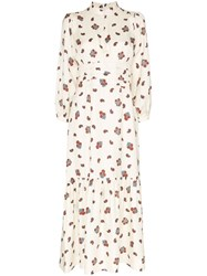 Rebecca De Ravenel Floral Maxi Dress White
