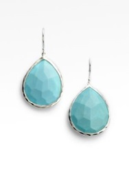 Ippolita Rock Candy Turquoise And Sterling Silver Large Teardrop Earrings