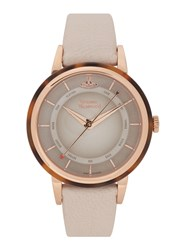 Vivienne Westwood Portobello Rose Gold Tone Watch White