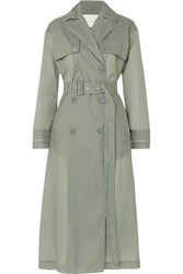 Mackintosh Belted Shell Trench Coat Gray