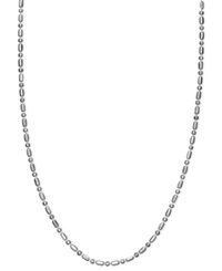 Giani Bernini Sterling Silver Necklace 24' Dot Dash Link