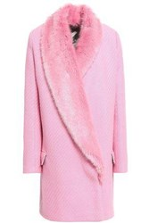 Shrimps Double Breasted Wool Blend Coat Pink