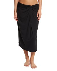 Michael Kors Collection Front Twist Coverup Skirt Black