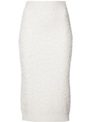 Michael Kors Textured Skirt White