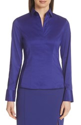 Boss Bashina Stretch Poplin Blouse Deep Lilac