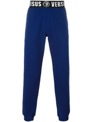 Versus Logo Waistband Sweatpants Blue