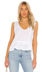 Rails Mira Blouse In White. White Lace Detail