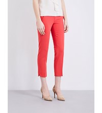 Max Mara Alpe Tapered Stretch Wool Trousers Coral