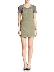 Ag Adriano Goldschmied Alexa Chung For The Gillian Denim Skirt Overalls Sulfur