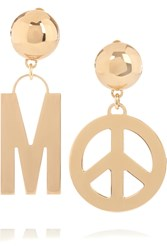 Moschino Gold Plated Clip Earrings