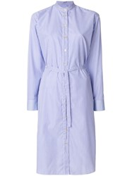 Paul Smith Pinstripe Shirt Dress Cotton Blue