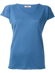 Liska V Neck T Shirt Blue