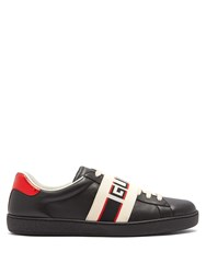 Gucci New Ace Low Top Leather Trainers Black Multi