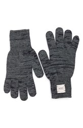Men's Upstate Stock Wool And Acrylic Knit Gloves Blue Navy Charcoal