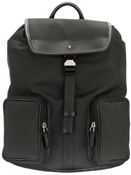 Montblanc Jet Small Backpack Calf Leather Nylon Black