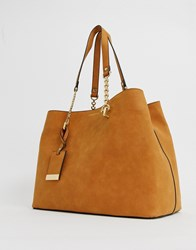Carvela Camilla Slouch Tote In Tan