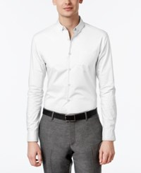 Inc International Concepts Men's Slim Fit Stretch Shirt Only At Macy's White